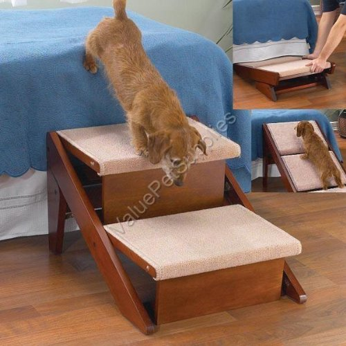 Pet Studio Dog Pet Carpeted Ramp Steps TWO STEP