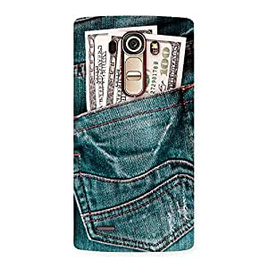 Enticing Dollars Jeans Back Case Cover for LG G4