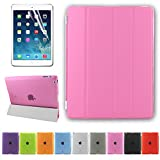 Besdata® Ultra Thin Magnetic Smart Cover + Back Case For Apple iPad 2 iPad 3 ipad 4, 2nd, 3rd & 4th Generation - Supreme Quality - Protects the Device - UK Stock - Pink - PT2604