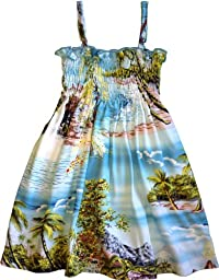 RJC Baby Girls Paradise Island Surf Elastic Tube Top Sundress Blue 4T
