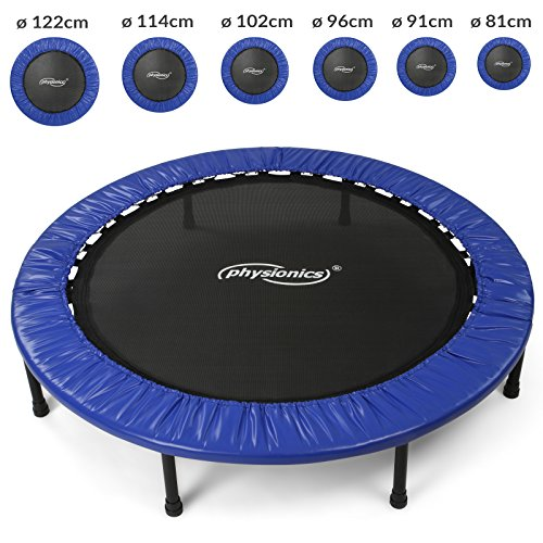 Physionics Mini trampolino elastico e robusto per interno ed esterno diametro a scelta (122 cm)