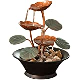 Indoor Water Lily Water Fountain-Small Size Makes This A Perfect Tabletop Decoration - Compact and Lightweight