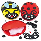 Bug Soft Felt Cushion Sewing Kits for Children to Sew as Gifts Pack of 2