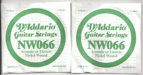 TWIN PACK OF D'ADDARIO NW066 XL Nickel Wound Singles -- TWO STRINGS! phil collins singles 4 lp
