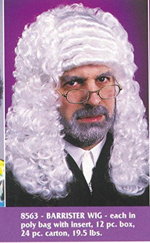 Barrister Wig Costume Accessory