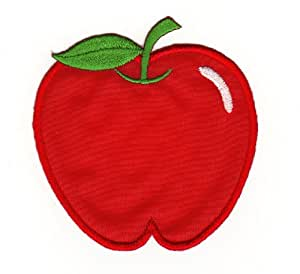 red apple fruit sew on iron on patches for kids children baby embroidered applique. Black Bedroom Furniture Sets. Home Design Ideas