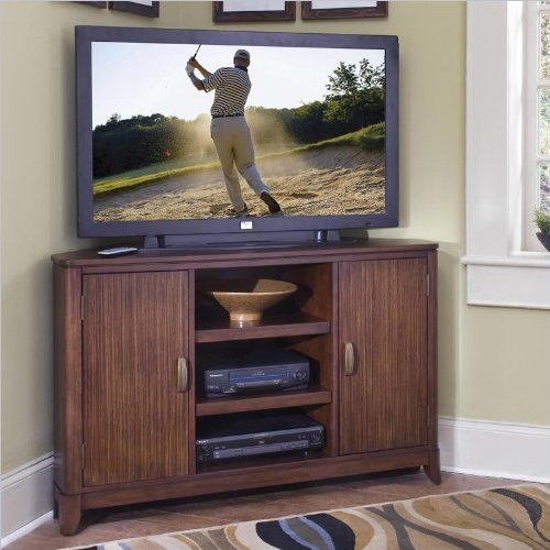 Cheap Home Styles 5540-07 Paris Corner TV Stand, Walnut Finish (5540-07)