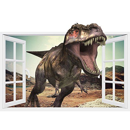 Supertogether Window Frame Dinosaur Childrens Vinyl Wall Sticker Decal