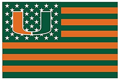 Miami Hurricanes 3x5FT Stars and Stripes Flag Hurricanes-nation
