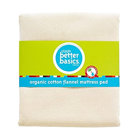 giggle Better Basics Organic Cotton Flannel Mattress Pad (Naturepedic Mattress Protector)