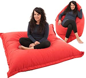 RAVIOLI GIANT - RED Bean Bag Chair Indoor / Outdoor Beanbag Floor Cushion from Gilda Ltd