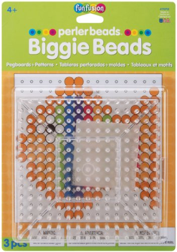 Perler Beads Clear Large Square Biggie Bead Pegboard 2 Pack - 1