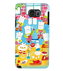 Printvisa Animated Chefs Baking Cake Back Case Cover for Samsung Galaxy Note 5 N920