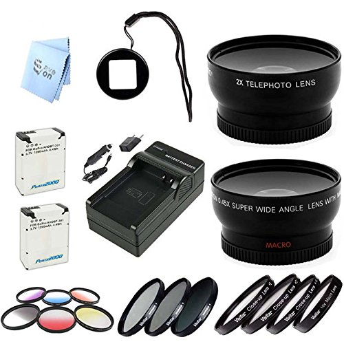 Gopro Hero3 And Hero3+ Wideangle & Telephoto Lens Starter Kit With Lens Filter Adapters