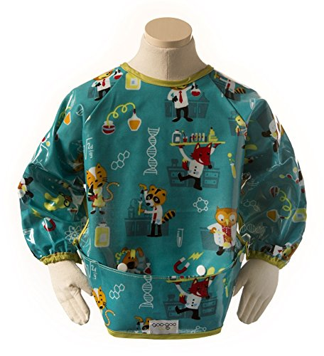 Goo-Goo Baby Perfect Pocket Smock In Lab Animals, Blue, Size Large (2-4 years)