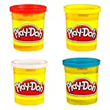 Play-Doh Pack of 4 Tubs (Colours May Vary)