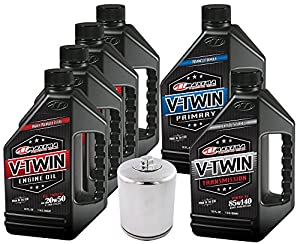 MaximaHiflofiltro VTTOCK15 Complete Engine Oil Change Kit for V-Twin Full Synthetic Harley Davidson Twin Cam, 6 quart from MaximaHiflofiltro