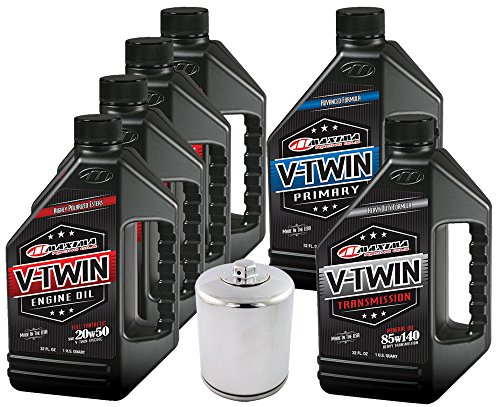 MaximaHiflofiltro VTTOCK15 Complete Engine Oil Change Kit for V-Twin Full Synthetic Harley Davidson Twin Cam, 6 quart (Harley Davidson Oem Oil Filter compare prices)