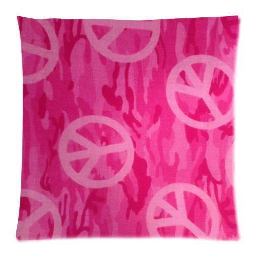 Pink Peace Sign Bedding