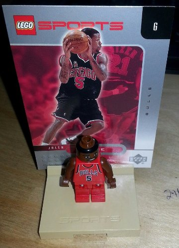 LEGO - Official NBA Lego Mini-Figures - JALEN ROSE Mini Figure - w/ stand & card - 1