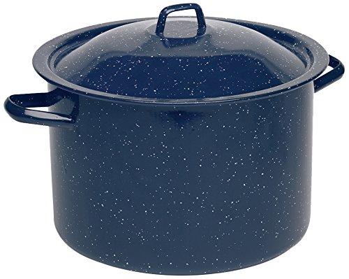 IMUSA USA C20666-10646W Enamel Stock Pot, 12-Quart, Blue