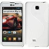 Silikon Hülle für LG Optimus F5 - S-Style weiß - Cover PhoneNatic Schutzhülle + Schutzfolien