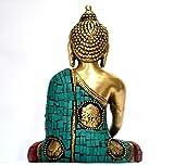 Groer-Trkis-Koralle-Medicine-Buddha-Statue-Tibet-Buddha-Statue-Messing-Sitzend
