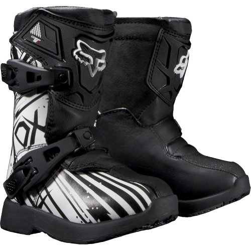 Fox Racing PeeWee Comp 5K Undertow Youth Boys MX/Off-Road/Dirt Bike Motorcycle Boots - Black / Size 10
