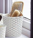 Aufbewahrungsbehälter aus Kunstrattan, mittelgroß, aus Polypropylen, Creme, 14,5cm Ø x 14cm H, 900ml