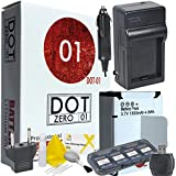 DOT-01 Brand 1300 MAh Replacement GoPro AHDBT-302 Battery And Charger For GoPro HERO3+ Camcorder And GoPro AHDBT302 Accessory Bundle With BONUS Lens Blower Brush Cleaning Kit And Hard Memory Card Case