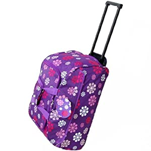 Small 22 Inch Wheeled Holdall Bag (Daisy Purple)
