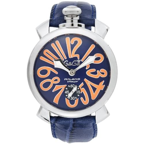 [ガガミラノ]GaGa MILANO 腕時計 マニュアーレ48mm ブルー文字盤  カーフ革ベルト 手巻き スイス製 5010.08S-BLU メンズ 【並行輸入品】