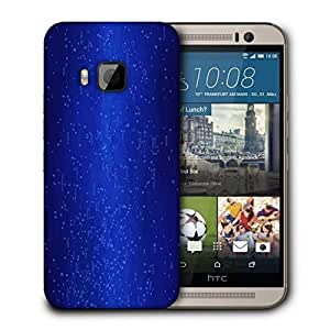 Snoogg Blue Codes Printed Protective Phone Back Case Cover For HTC One M9