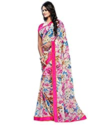 My online Shoppy Chiffon Saree (My online Shoppy_75_Multi-Coloured)
