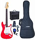 Encore KC3R Electric Guitar Bundle - Red