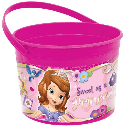 Disney Sofia The First Princess Birthday Party Toys Favours and Prize Giveaway Container (1 Piece), Pink, 4 1/2