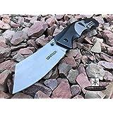 Monogram Knife, Custom Knives, Pocket Knife, Hunting Knife, Personalized Knife, Engraved Knives, Cleaver Folding Knife, Razor Blade, Punisher Skull (Black) (Color: Black)