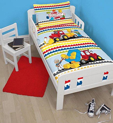 Lego - Set di biancheria da letto per bambini con mattoncini Lego Duplo