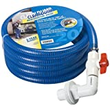 Clean Dump (CDHV-20) 20' Length Discharge Hose with Drip Proof Valve