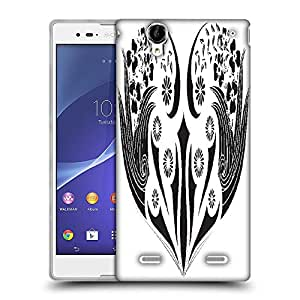 Snoogg floral frame Designer Protective Back Case Cover For Sony Xperia T2 Ultra