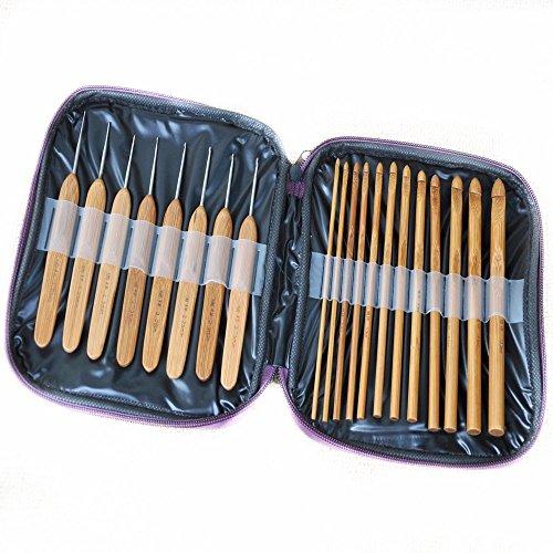 Knitting Needle Sets In Case : Feelglad tm set kit mixed bamboo knitting needles