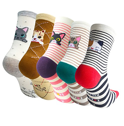 Womens Colorful Animal Socks