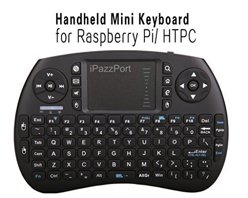 (Updated Version with Much Stronger Signal) iPazzPort Wireless Mini Handheld Keyboard with Touchpad Combo for Raspberry Pi/XBMC Android and Google Smart TV Box KP-810-21S(Black) primary