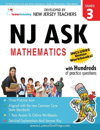 NJ ASK Practice Tests and Online Workbooks: Grade 3 Mathematics, Third Edition: Common Core State Standards Aligned
