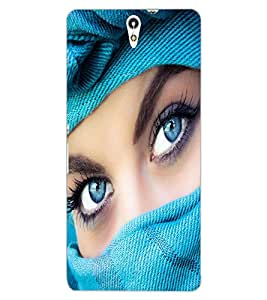 ColourCraft Lovely Eyes Design Back Case Cover for SONY XPERIA C5 ULTRA DUAL