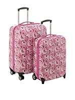 Roncato Set de 2 trolleys rígidos (Rosa)