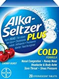 Alka-Seltzer Plus Cold - Cherry Burst 20 Tabs