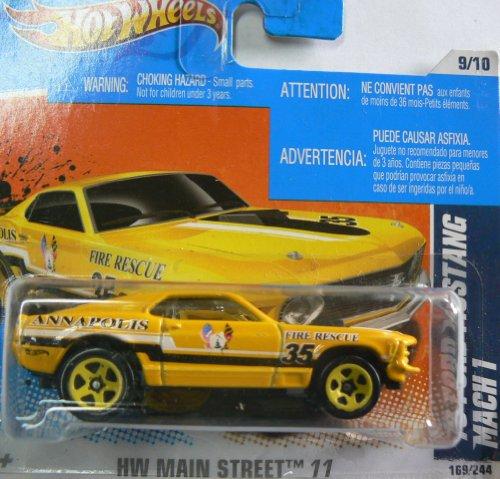 Hot Wheels HW Main Street '11 9/10 '70 Ford Mustang Mach 1 on Short Card - 1