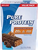 Pure Protein Chocolate Peanut Butter Value Pack Bars,  6 bars, (50g bars)