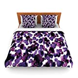 "Kess InHouse Ebi Emporium ""Giraffe Spots-Purple"" Lavender King Fleece Duvet Cover, 104 by 88-Inch"